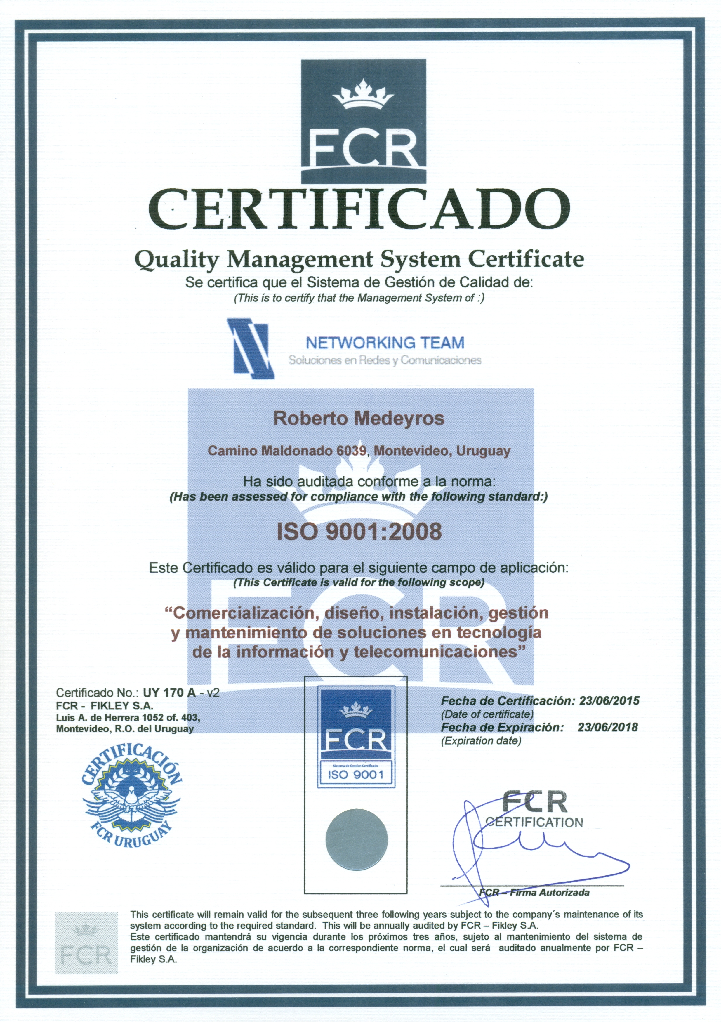 FCR Roberto Medeyros